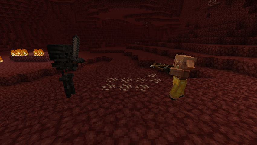 Wither Skeleton dan Piglin